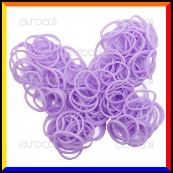 Loom Bands Elastici Colorati Lilla Profumati Jasmine - Bustina da 600 pz LB26