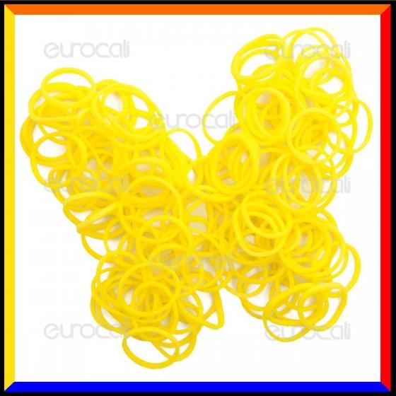 Loom Bands Elastici Colorati Giallo Profumati Limone - Bustina da 600 pz LB24
