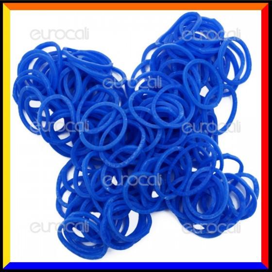 Loom Bands Elastici Colorati Blu Profumati Zucchero Filato - Bustina da 600 pz LB28