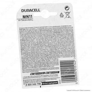 Duracell MN11 (A11) 6V - Blister 1 Batteria