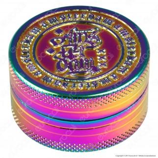 Grinder Tritatabacco 2 Parti in Metallo Rainwbow