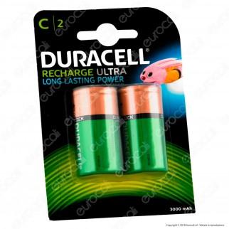 Duracell Ultra Mezzatorcia C 3000mAh Pile Ricaricabili - Blister 2 Batterie