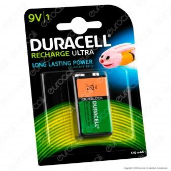 Duracell Ultra Transistor Pila Ricaricabile 9V - Blister 1 Batteria