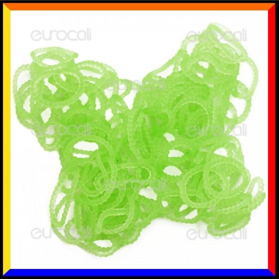 Loom Bands Elastici Perlinati Colorati Verde - Bustina da 300 pz LB29