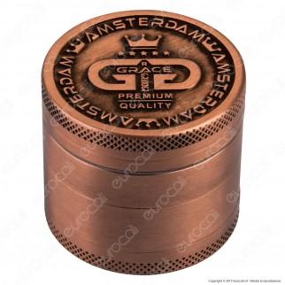 Grinder Tritatabacco 4 Parti Colori Anticati Logo Grace
