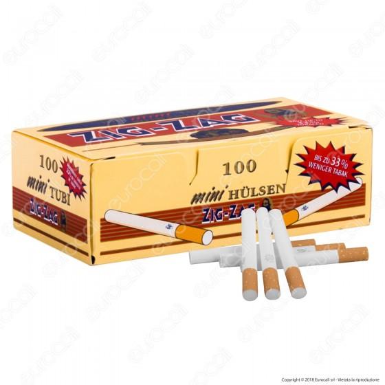 Zig Zag Mini Tubetti Corti con Filtro - Box da 100 Sigarette Vuote