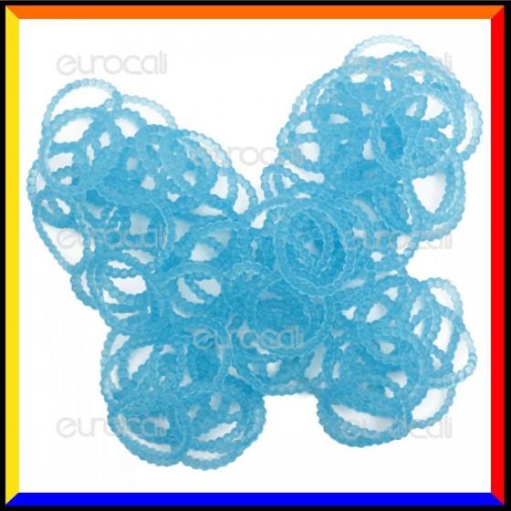 Loom Bands Elastici Perlinati Colorati Azzurro - Bustina da 300 pz LB31