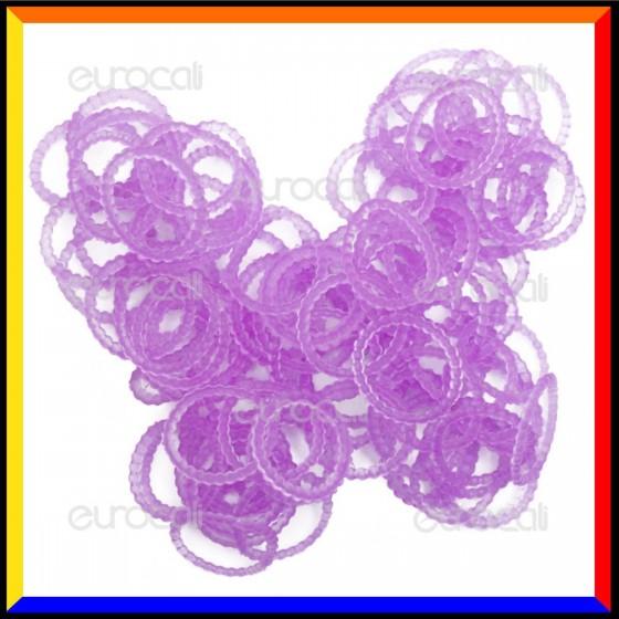 Loom Bands Elastici Perlinati Colorati Viola - Bustina da 300 pz LB33