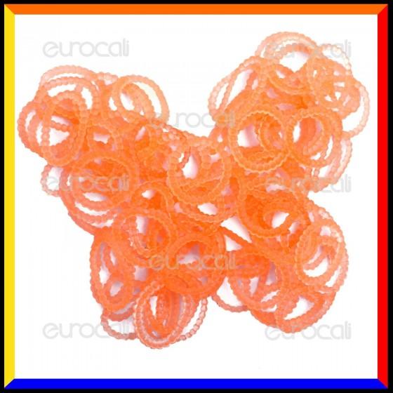 Loom Bands Elastici Perlinati Colorati Arancio - Bustina da 300 pz LB32