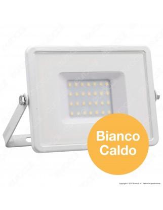 V-Tac PRO VT-30 Faro LED SMD 30W Ultrasottile Chip Samsung da Esterno Colore Bianco - SKU 403 / 405