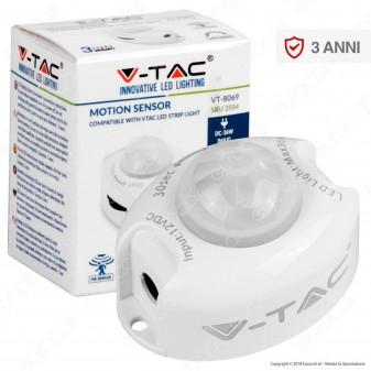 V-Tac VT-8069 Sensore di Movimento a Infrarossi per Strisce LED - SKU 2554