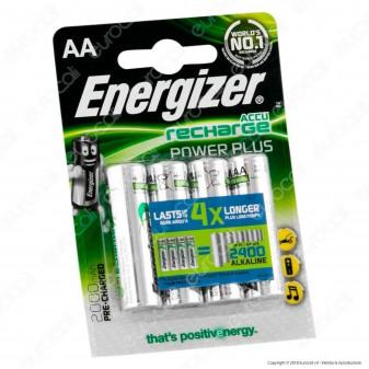 Energizer Accu Recharge 2000mAh Pile Ricaricabili Stilo AA - Blister 4 Batterie