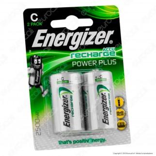 Energizer Accu Recharge Power Plus 2500mAh Pile Ricaricabili Mezzatorcia C - Blister 2 Batterie