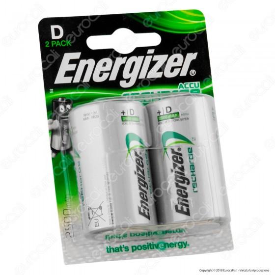 Energizer Accu Recharge Power Plus Torcia D 2500mAh Pile Ricaricabili - Blister 2 Batterie