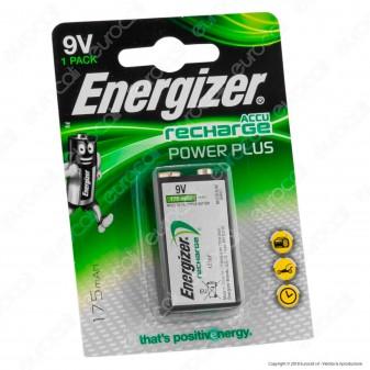 Energizer Accu Recharge Poer Plus Transistor Pila Ricaricabile 9V - Blister 1 Batteria