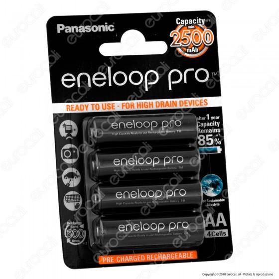 Panasonic Eneloop Pro 2500mah Pile Ricaricabili Stilo AA - Blister 4 Batterie