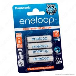 Panasonic Eneloop 750mAh Pile Ricaricabili Ministilo AAA - Blister 4 Batterie