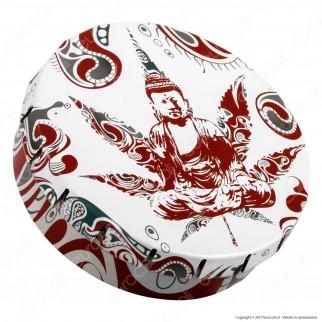 Scatolina in Metallo Portatutto con Apertura a Click - Fantasia Buddha Weed