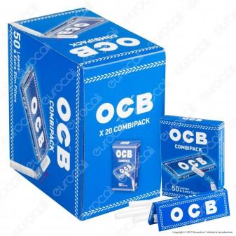 OCB Combipack Cartine Corte Blu e Filtri Ultraslim 5,5mm - Scatola da 20 Pacchetti