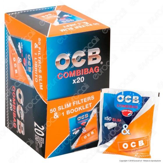 OCB CombiBag Cartine Corte Orange e Filtri Slim 6mm - Box da 20 Bustine