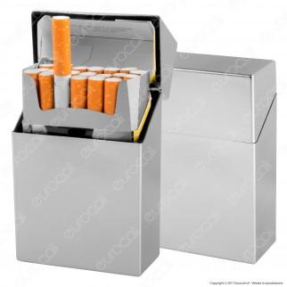 Atomic Portasigarette Portapacchetto in Plastica Rigida Argento