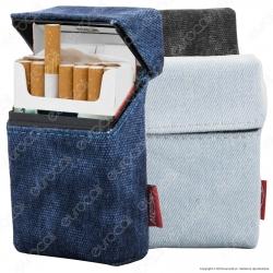 Atomic Portasigarette Portapacchetto in Tessuto Jeans con Struttura in Materiale Plastico