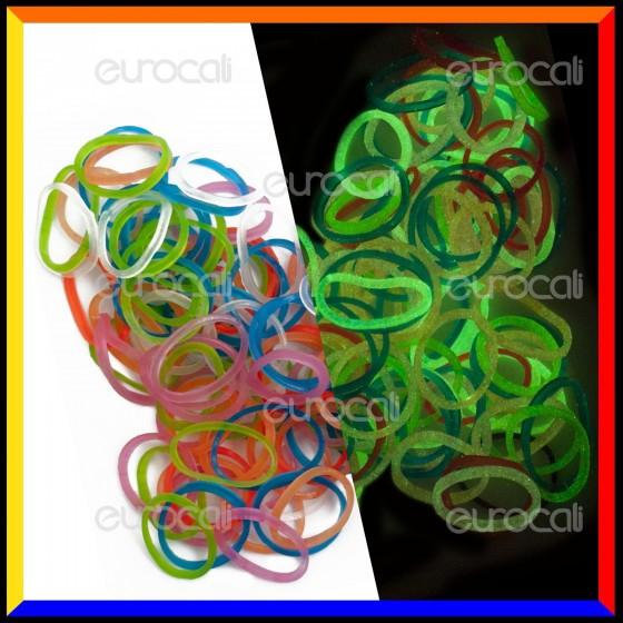 Loom Bands Elastici Colorati Glow 1 Fosforescenti - Bustina da 1000 pz LB37