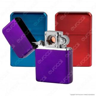 Champ Accendino USB in Metallo Antivento Ricaricabile Apertura a Clip - 1 Accendino