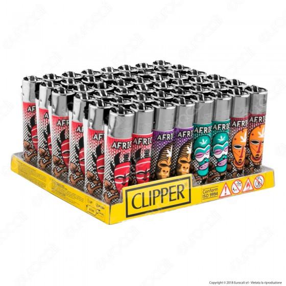 Clipper Large Fantasia Africa - Box da 48 Accendini