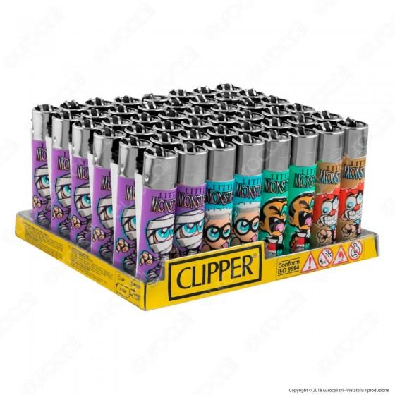 Clipper Large Fantasia Little Monster - Box da 48 Accendini