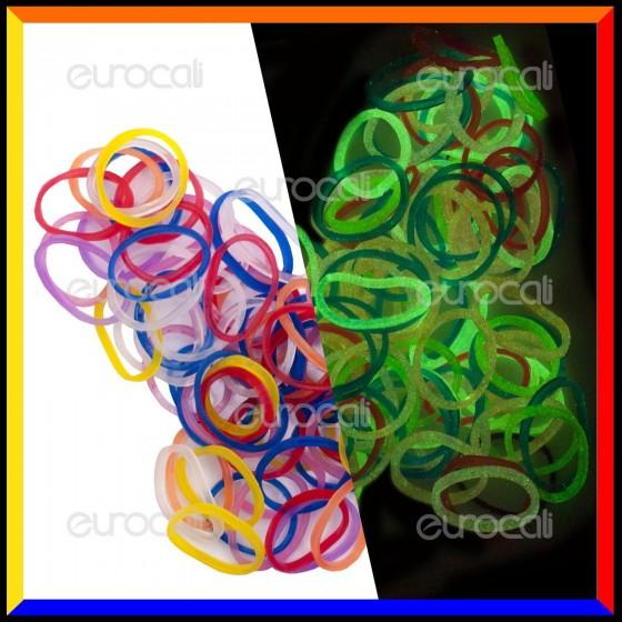 Loom Bands Elastici Colorati Glow 2 Fosforescenti - Bustina da 1000 pz LB38
