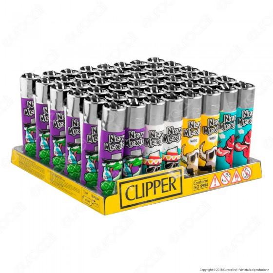 Clipper Large Fantasia New Mexico - Box da 48 Accendini