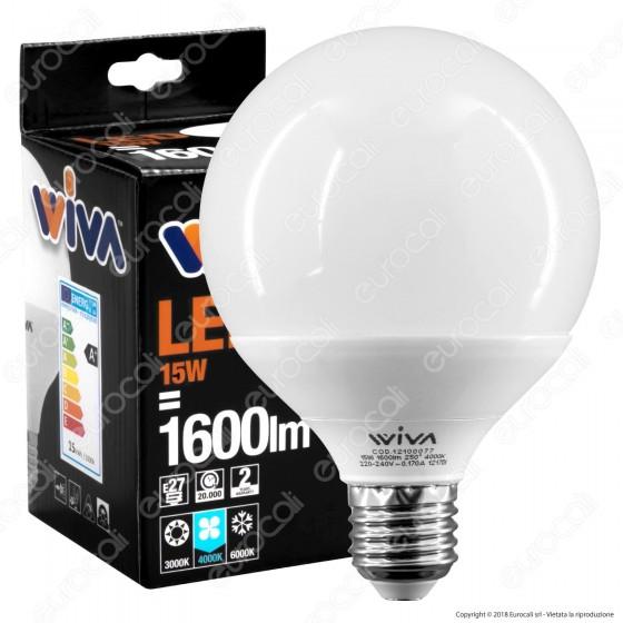 Wiva Lampadina LED E27 15W Globo G95