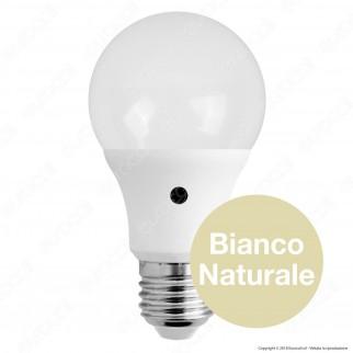 Bot Lighting Lampadina LED E27 12W Bulb A60 con Sensore Crepuscolare