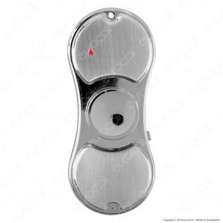 Zorr Accendino USB Spinner in Metallo Antivento Ricaricabile con Luci LED - 1 Accendino
