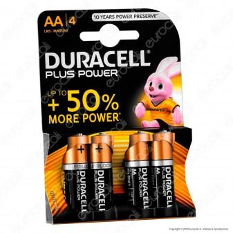 Duracell Plus power Duralock Alcaline Stilo AA - Blister 4 Batterie