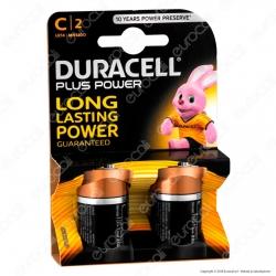 Duracell Plus Power Alcaline Mezzatorcia C - Blister 2 Batterie