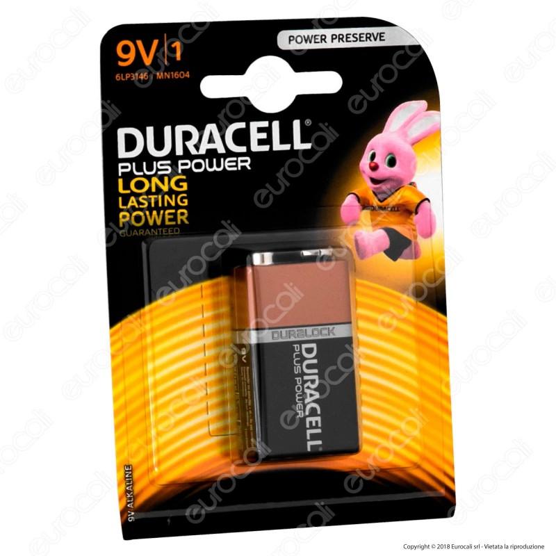 Duracell Plus Power Alcalina Transistor 9V - Blister 1 Batteria