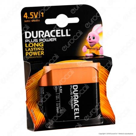Duracell Plus Power Alcalina Piatta 4,5V - Blister 1 Batteria