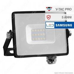 V-Tac PRO VT-10 Faro LED SMD 10W Ultrasottile Chip Samsung da Esterno Colore Nero - SKU 425 / 426