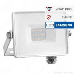 V-Tac PRO VT-10 Faro LED SMD 10W Ultrasottile Chip Samsung da Esterno Colore Bianco - SKU 429
