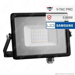 V-Tac PRO VT-20 Faro LED SMD 20W Ultrasottile Chip Samsung da Esterno Colore Nero - SKU 441
