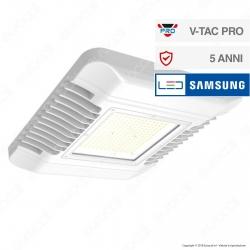 V-Tac PRO VT-9-155 Faro LED SMD Canopy 150W Ultrasottile Chip Samsung da Esterno Colore Bianco - SKU 572 / 573