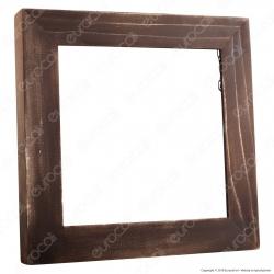 FAI Cornice Quadrata in Legno Wengé per Pannello LED 13W - mod. 5070