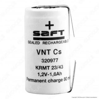 Saft Batteria Ricaricabile Ni-Cd VNT Cs con Lamelle - Batteria Singola