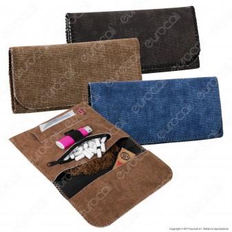 Champ Tobacco Pouch Portatabacco in Tessuto di Jeans - 4 Colorazioni