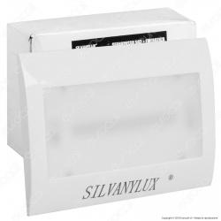 Silvanylux Faretto Segnapasso LED con Emergenza da Incasso per Cassetta Standard 503 1W Colore Bianco - mod. GRN729