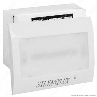 Silvanylux Faretto Segnapasso LED con Emergenza da Incasso per Cassetta Standard 503 1W