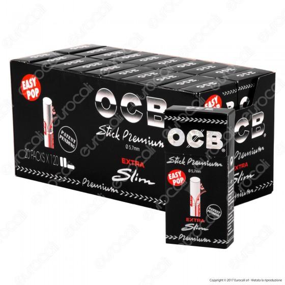 Ocb Extra Slim 5,7mm - Box 20 Scatoline da 120 Filtri