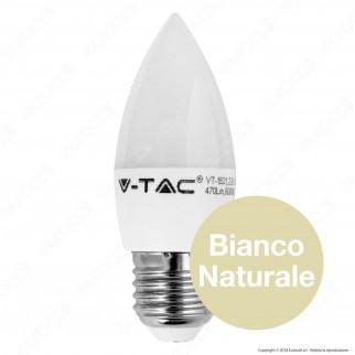 V-Tac VT-1821 Lampadina LED E27 6W Candela - SKU 4342 / 4343 / 4344